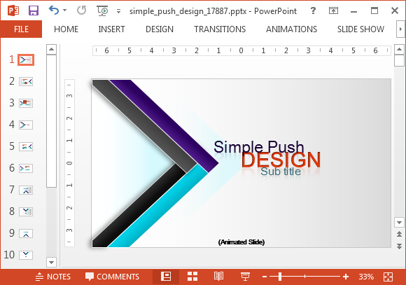 Push design template for powerpoint animated push design template for powerpoint toneelgroepblik