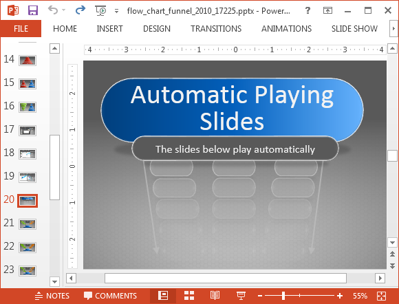 Automatic playing slides