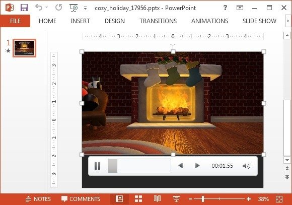 Cozy holidays video background