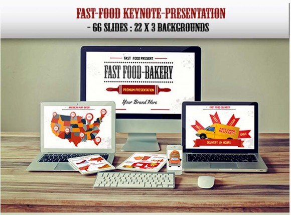 Fast food delivery Keynote template