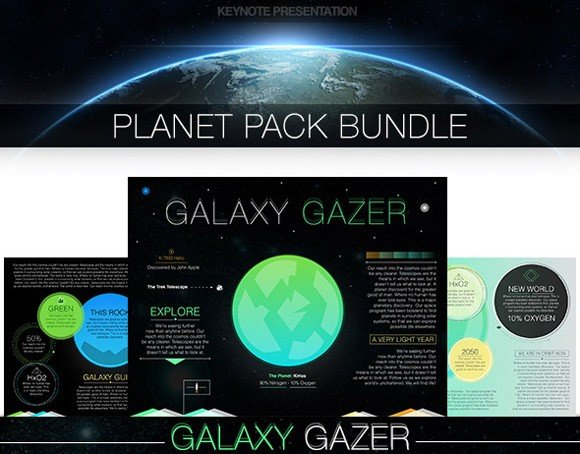 Planet pack Keynote template
