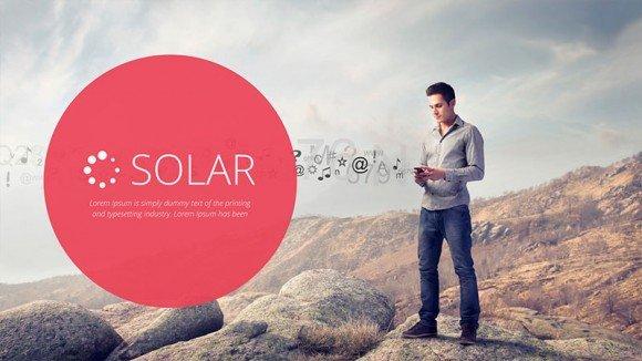 Solar Keynote template