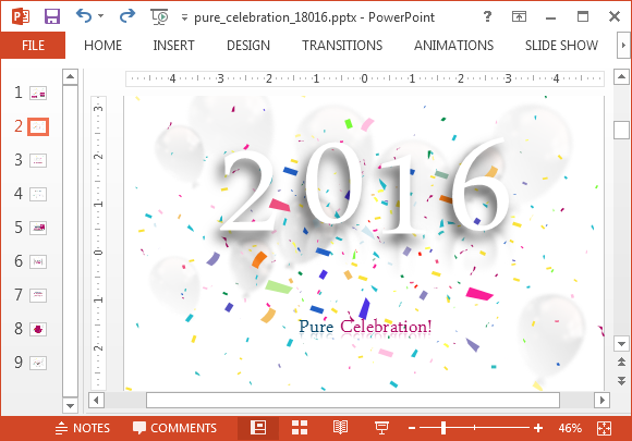 Animated 2016 new year powerpoint template toneelgroepblik Image collections