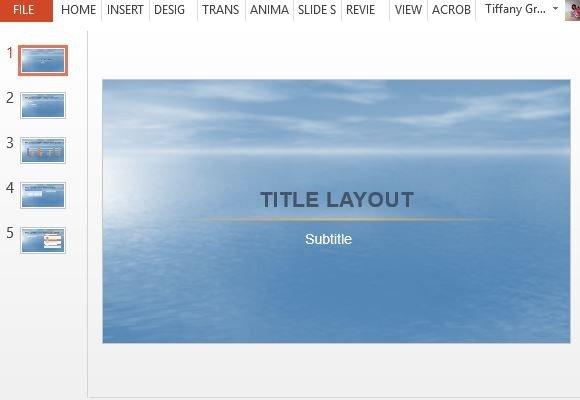 Beautiful ocean powerpoint template beautiful ocean inspired template for general use toneelgroepblik Gallery