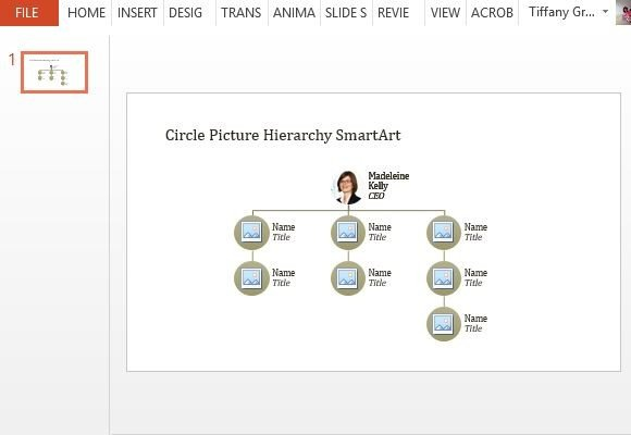 Circle Picture Organizational Chart Powerpoint Template