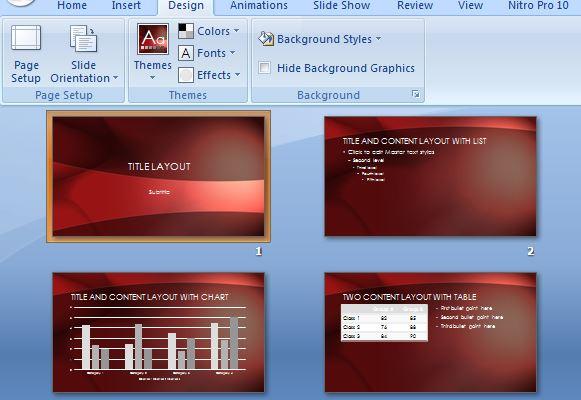crimson landscape powerpoint template