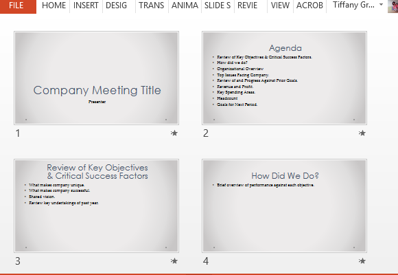 Company Meeting Powerpoint Template