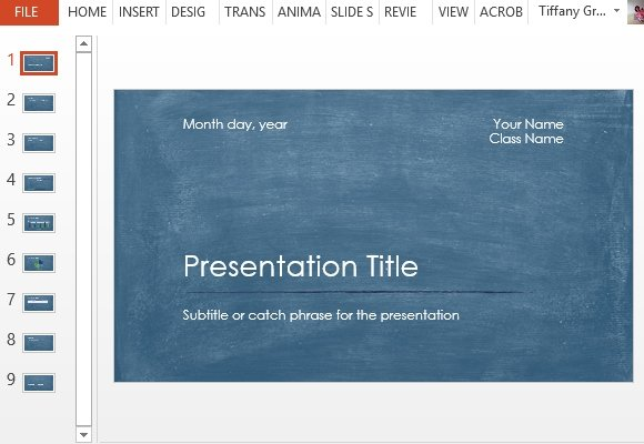 student scientific report powerpoint template, Modern powerpoint