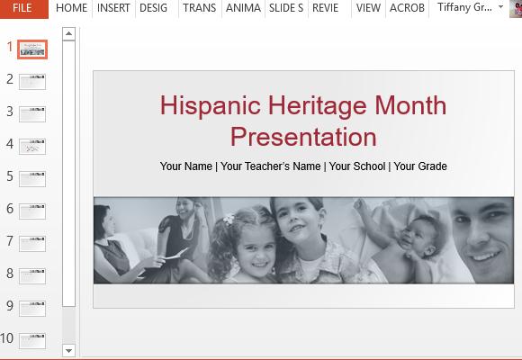 hispanic heritage powerpoint template