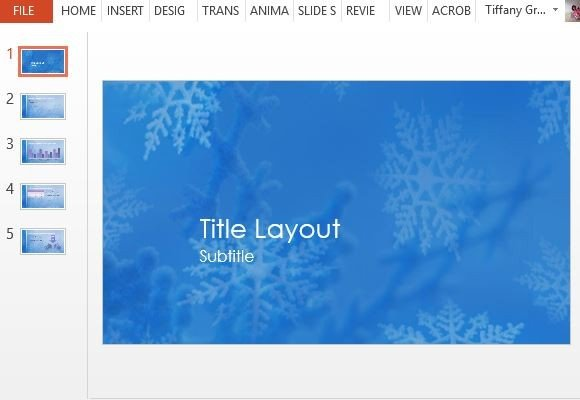 Snowflakes Christmas Powerpoint Template