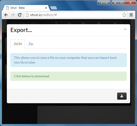 Export to JSON