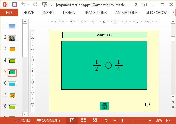 Free jeopardy fractions powerpoint templateg fppt toneelgroepblik Choice Image