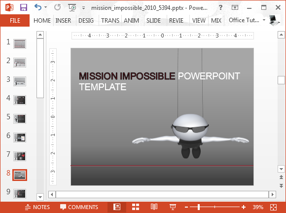 Mission impossible animation for PowerPoint