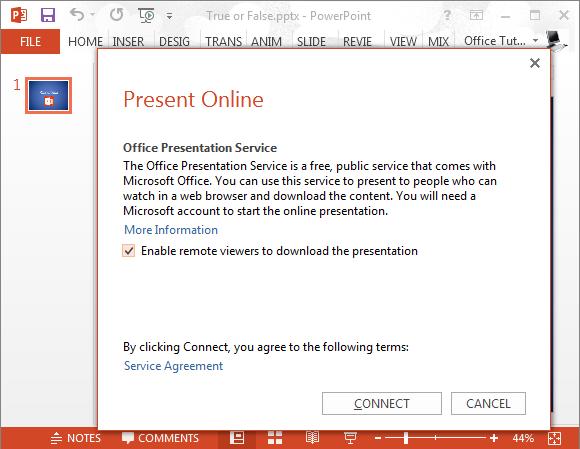 Office presentation service