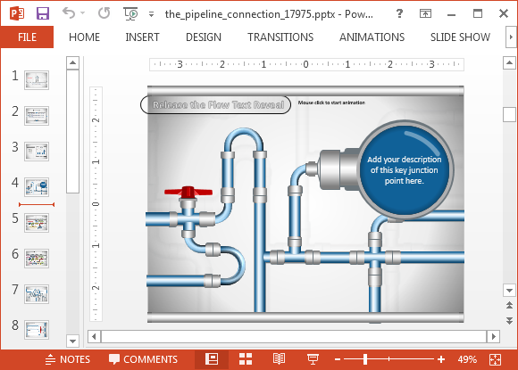 Pipeline project management template for PowerPoint