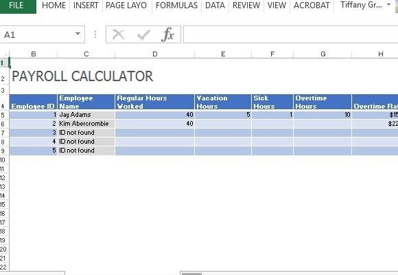 easy payroll calculator for multiple employees in any industry fppt