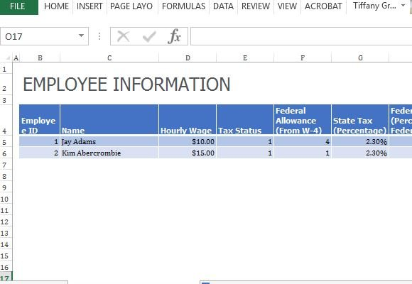 employee payroll calculator template in excel fppt