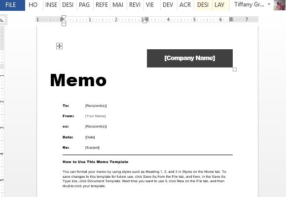 interoffice memo template for word