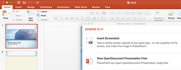 What's New in PowerPoint 15 17 for Mac
