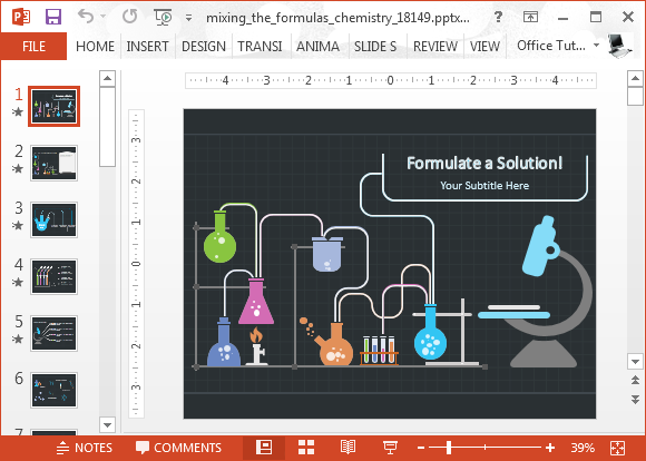 animated chemistry powerpoint template, Modern powerpoint