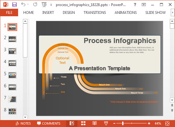 Animated Process Infographics Powerpoint Template