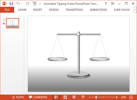 Free animated tipping scales powerpoint template toneelgroepblik Images