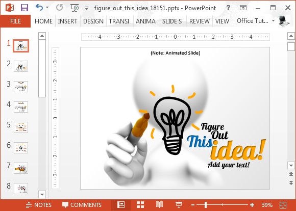 Figure out this idea template for PowerPoint