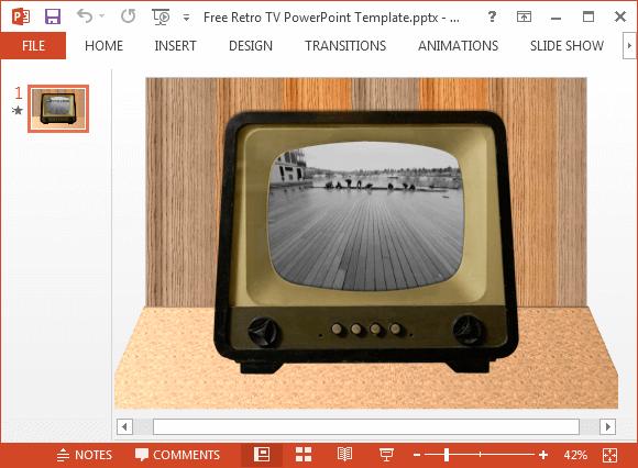 Free retro tv powerpoint templateg fppt toneelgroepblik Gallery
