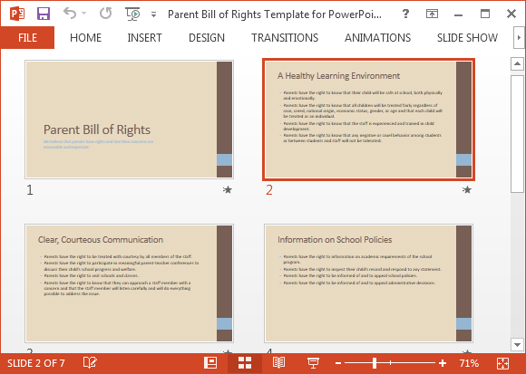 Parent bill of rights presentation template