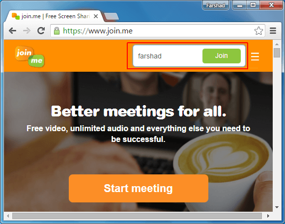 Remotely join a meeting