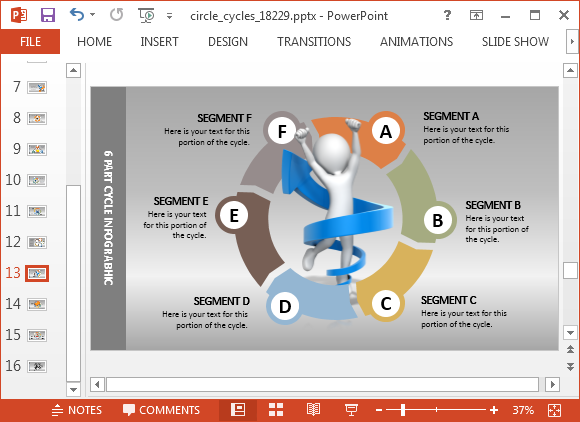 Segment layout for PowerPoint
