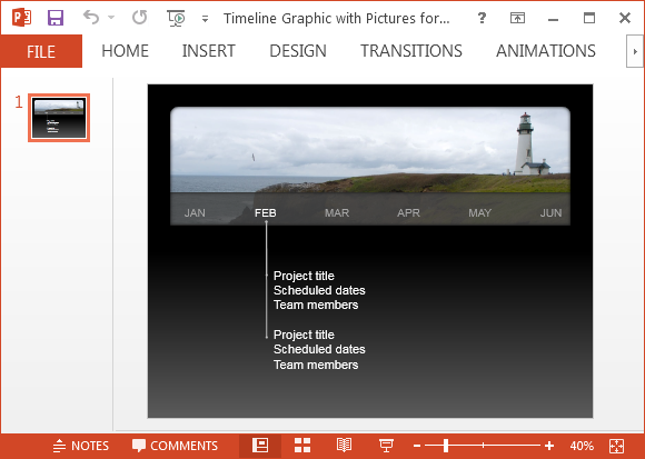 Timeline Graphic With Pictures For PowerPoint