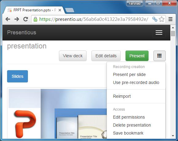 Use pre-recorded audio file