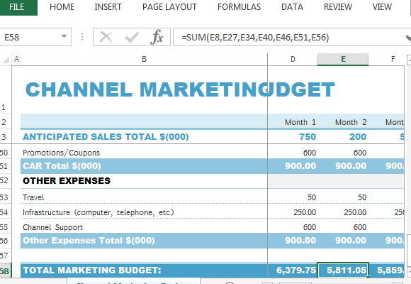 Sales And Marketing Budget Template Photos Marketing Budget