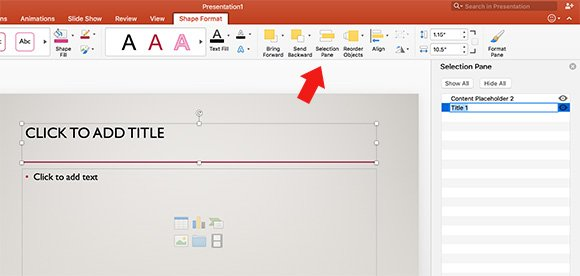 Using selection pane in powerpoint for mac selection pane powerpoint mac toneelgroepblik Images