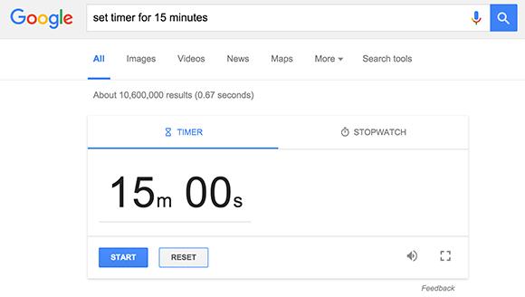 set timer 15 minutes google fppt