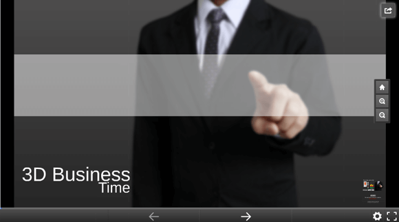 3D business time Prezi template