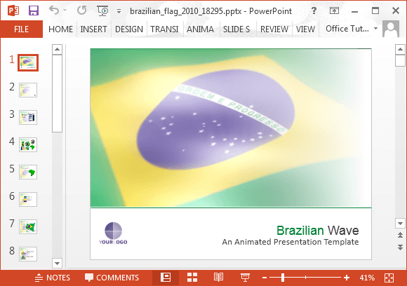 Animated brazil powerpoint template toneelgroepblik Gallery