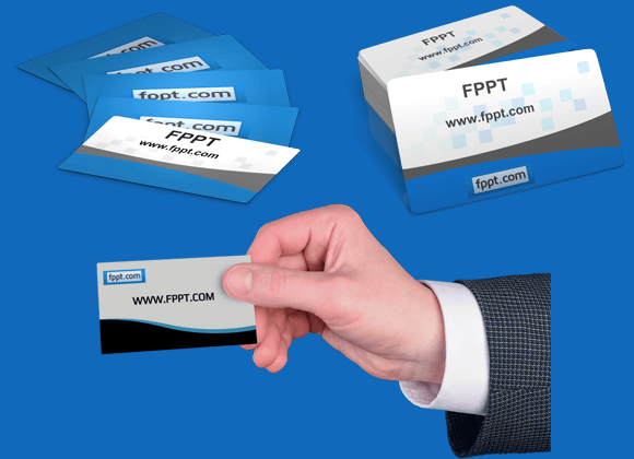 Customizable business card clipart for powerpoint reheart