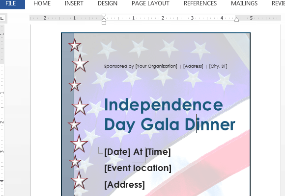Independence Day Flyer Template For Word
