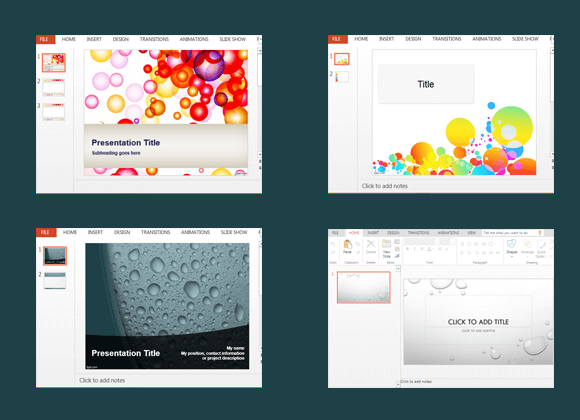 Free bubbles PowerPoint templates