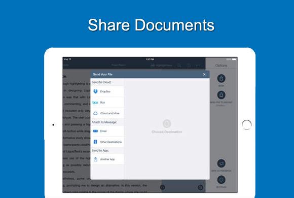 Share documents using iPad
