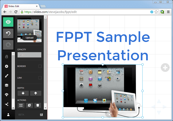 Slides presentation maker