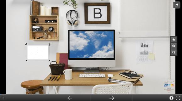 Work desk 3D Prezi template
