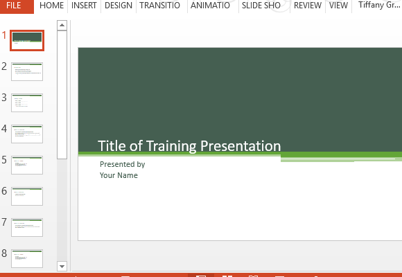 training presentation template for powerpoint, Presentation templates