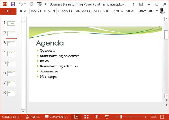 Brainstorming Agenda Slide
