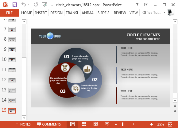 Circle diagrams for PowerPoint presentations