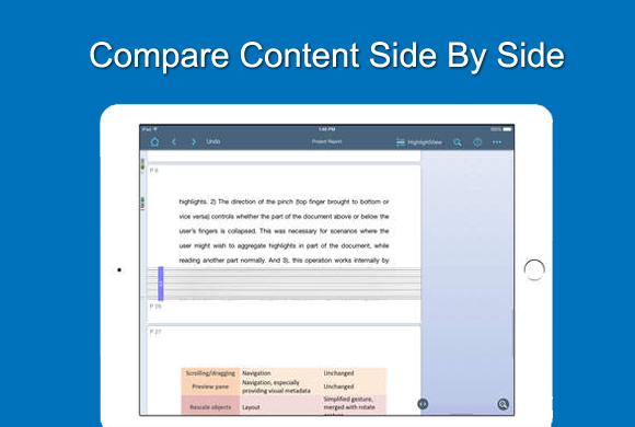 Compare content side by side