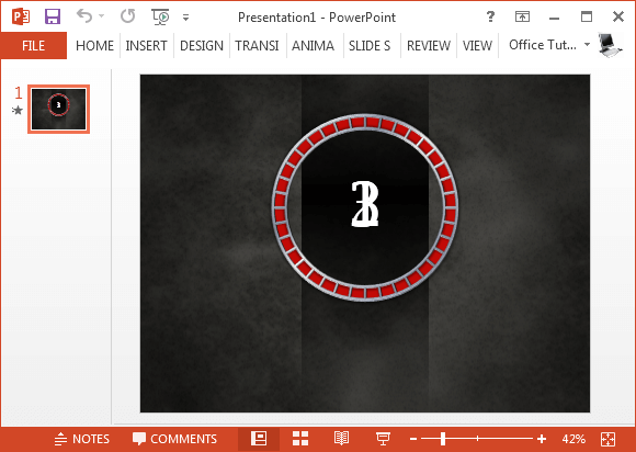 free animated countdown timer template for powerpoint, Modern powerpoint