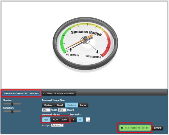 Customize gauge animation
